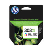 Image of HP 303XL High Capacity Tri-Colour Ink Cartridge | T6N03AE