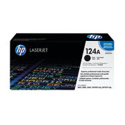 Image of HP 124A Black Laserjet Toner Cartridge | Q6000A