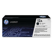 Image of HP 12A Black Laserjet Toner Cartridge | Q2612A