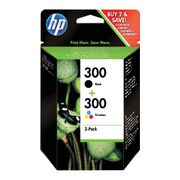 Image of HP 300 Black and Tri-Colour Ink Cartridge Combo Pack - CN637EE