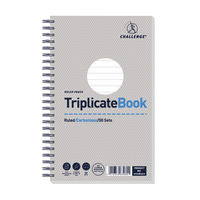 Challenge Carbonless Triplicate Ruled Book, 50 Slips (Pack of 5) - K63080