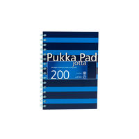 Pukka Pad A5 Navy Blue Wirebound Jotta, 200 Pages - 6677-NVY
