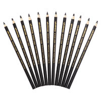 Staedtler Glasochrome Black Chinagraph Pencils, Pack of 12 - RS525653