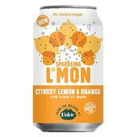 Volvic L'Mon 330ml Sparking Lemon and Orange, Pack of 12 - 145921