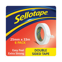 View more details about Sellotape Double Sided Tape 25mmx33m (Pack of 6) 1447052