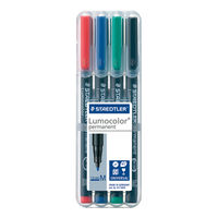 View more details about Staedtler Lumocolour Pen Permanent Medium Assorted (Pack of 4) 317-WP4