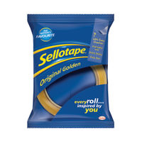 Sellotape 24mm x 66m Original Golden Tape, Pack of 6 - 1443306
