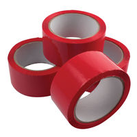 Red Polypropylene Parcel Tape, 50mm x 66m - Pack of 6 - 62050664
