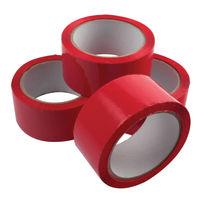 Red Polypropylene Parcel Tape, 50mm x 66m - Pack of 6 - 62050664