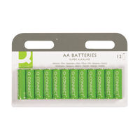 Q-Connect AA Batteries, Pack of 12 - KF00644