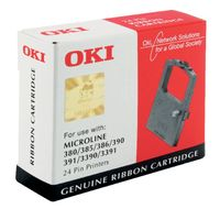 Oki Black Microline 390/391 Fabric Ribbon - 9002309