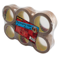 Scotch Tape - PVC Brown Packaging Tape - Pack of 6 Rolls - PVC5066F6 B