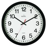Acctim Controller Black Silent Wall Clock - 93/704B