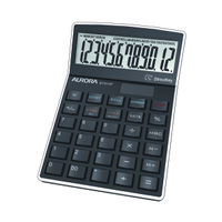 Aurora Black 12-Digit Semi-Desktop Calculator - DT910P
