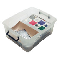 Strata Clear 24 Litre Smart Box with Lid - HW673