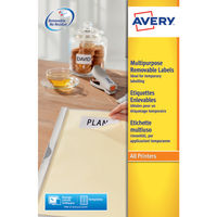 Avery Removable White Laser Labels, 99.1x 42.3mm (Pack of 300) - L4743REV-25