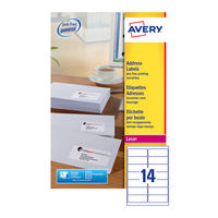 Avery White QuickPEEL Laser Address Labels 99.1x38.1mm (Pack of 560) - L7163-40