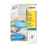Avery QuickDRY White CD/DVD Full Face Labels (Pack of 200) - J8676-100