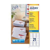 Avery QuickDry Inkjet Address Labels 63.5 x 38.1mm (Pack of 2100) - J8160-100