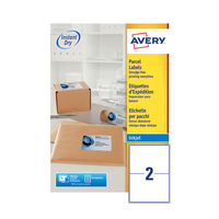 Avery QuickDry Inkjet Address Labels 199.6 x 143.5mm (Pack of 200) - J8168-100