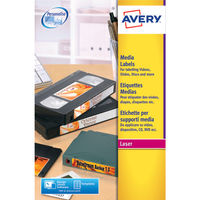 Avery White Diskette Face Labels, 70 x 52mm (Pack of 250) - L7666-25