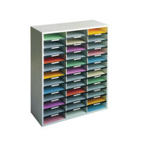 View more details about Fellowes Grey 36 Compartment Literature Organiser, W737 x D302 x H881mm - 25061