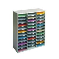 Fellowes Grey 36 Compartment Literature Organiser, W737 x D302 x H881mm - 25061