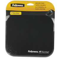 Fellowes Black Microban Mouse Mat - 5933903