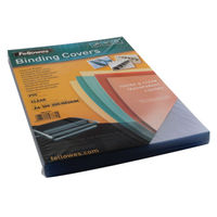 Fellowes Transparent A4 PVC Binding Covers 200 Micron, Pack of 100 - 53761
