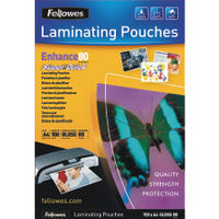 Fellowes SuperQuick A4 Laminating Pouches, Pack of 100 - 5440001