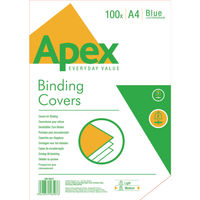 View more details about Fellowes Apex A4 Leatherboard Cover Blue, Pack of 100 - BB58507