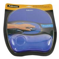 Fellowes Crystal Gel Blue Mouse Mat - 91141