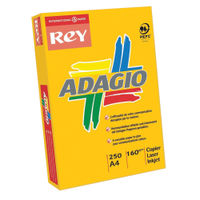 Rey Adagio Intense Orange A4 Coloured Card, 160gsm - AO2116