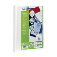 Elba Panorama White A4 2 D-Ring Binder 65mm, Pack of 4 - 400008048