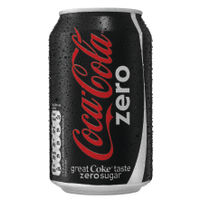 Coke Zero by Coca-Cola 330ml Cans, Pack of 24 - 0402003
