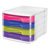 CepPro Gloss Multi Coloured Four Drawer A4 Module - CEP94380