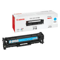 View more details about Canon 718C Cyan Toner Cartridge 2661B002