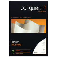 Conqueror A4 100gsm Bright White Watermark Paper Wove (500 Sheets)