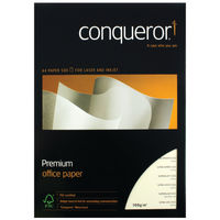 View more details about Conqueror A4 Cream CX22 Watermark Paper, 100gsm, 500 Sheets - CQX0324CRNW