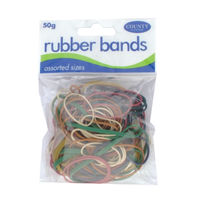 View more details about County Rubber Bands Coloured 50gm (Pack of 12) C225