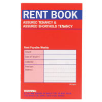Country Assured Red Tenancy Rent Book, Pack of 20 - C237