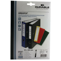 Durable Black Lever Arch Spine Labels - Pack of 10 - 8090/01