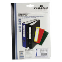 Durable Lever Arch Spine Label, Blue - Pack of 10 - 8090/06