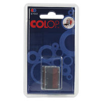 COLOP E/10/2 Replacement Ink Pad  - Pack of 2: 1 Blue 1 Red - EM30491