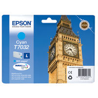 Epson, T7032, Cyan Ink Cartridge, C13T70324010