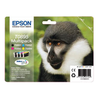 View more details about Epson T0895 Black /Cyan/Magenta/Yellow Inkjet Cartridge (Pack of 4) C13T08954010 / T0895