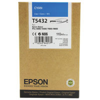 Epson T5432 Cyan Ink Cartridge - C13T543200