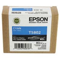 Epson T5802 Cyan Ink Cartridge - C13T580200