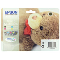Epson T0615 Black and Colour Ink Cartridge Multipack - C13T06154010