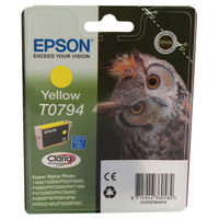 View more details about Epson T0794 Yellow Inkjet Cartridge C13T07944010 / T0794